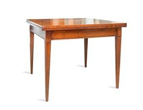 Tavolo quadrato a quattro gambe Noce Artigianale scontato