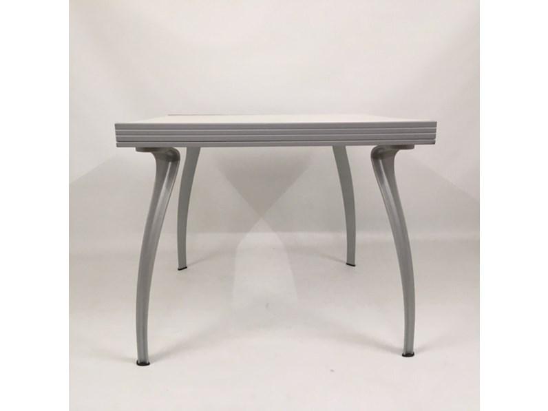 Tavolo quadrato a quattro gambe Oscar 90x90x180 piano legno Bonaldo ...