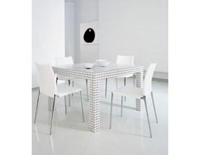 Tavolo quadrato a quattro gambe Quaderna zanotta 2600 Zanotta scontato
