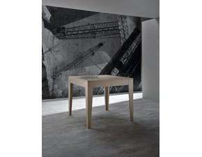 Tavolo quadrato a quattro gambe Skin Zamagna scontato