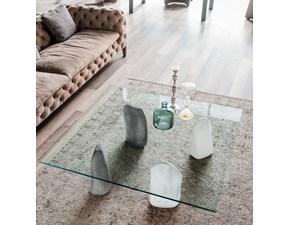 Tavolo quadrato a quattro gambe Stone Cattelan scontato