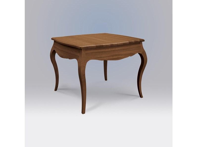 Tavolo quadrato allungabile in legno style classico in noce