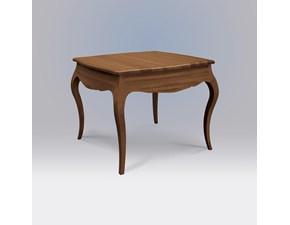 tavolo quadrato allungabile in legno di noce scontato Mottes Mobili