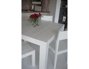 Tavolo quadrato con basamento a quattro gambe Akyo Mirandola