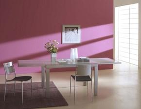 Tavolo quadrato con basamento a quattro gambe Sky di Ingenia