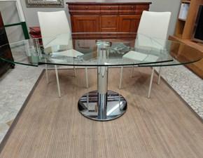 Tavolo quadrato con basamento centrale Acqua Artigianale scontato