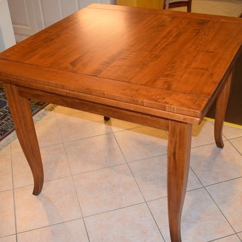 Tavolo quadrato con due allunghe in legno massello for Tavolo legno quadrato