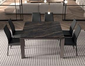 Tavolo quadrato in ceramica Metro' quadro Ozzio in Offerta Outlet