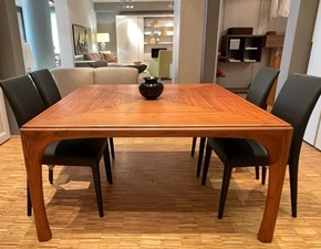Tavolo quadrato in legno Boulevard Poltrona frau in Offerta Outlet