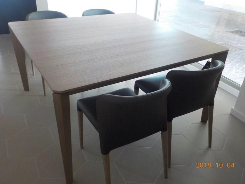 Tavolo quadrato in legno cliff cm 145 x 145 alf in offerta outlet - Tavolo riflessi living prezzo ...
