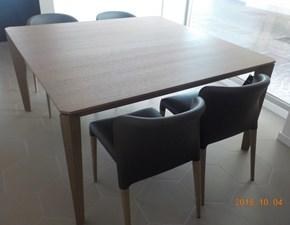 Tavolo quadrato in legno Cliff cm 145 x 145 Alf in Offerta Outlet