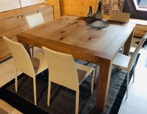 Tavolo quadrato in legno Quadro casa oro Artigianale in Offerta Outlet