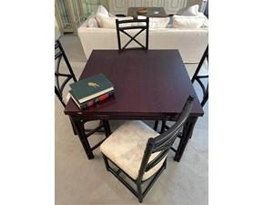 Tavolo quadrato in legno Rattan Artigianale in Offerta Outlet