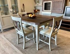 Tavolo quadrato in legno Rodi Artigianale in Offerta Outlet