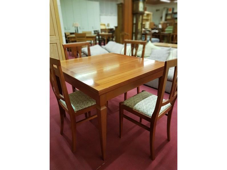 Tavolo quadrato in legno Tavolo quadrato allungabile mod. arthemà  Artigianale in Offerta Outlet