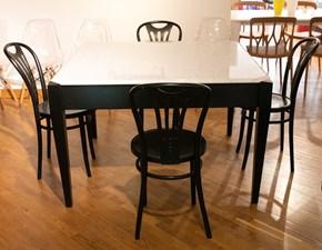 Tavolo quadrato in pietra Tavolo marmo bisellato + 4 sedie  Italcomma in Offerta Outlet