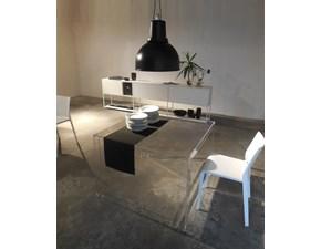Tavolo quadrato in vetro Tavolo quadrato invisible kartell Kartell in Offerta Outlet