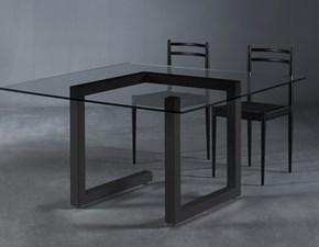 Tavolo quadrato in vetro Teorico Colico in Offerta Outlet