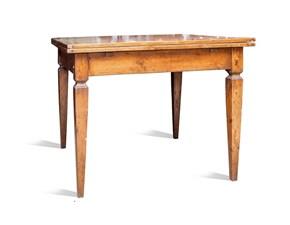 Tavolo Quadro vecchio Artigianale in legno Allungabile