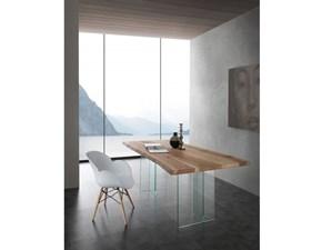 Tavolo rettangolare a cavalletto Bio glass * La seggiola scontato