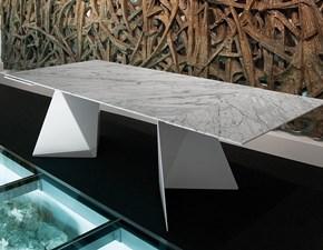 Tavolo rettangolare a cavalletto Euclide Domitalia scontato