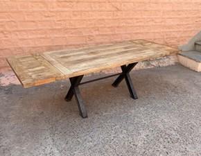 Tavolo rettangolare a cavalletto Tavolo industrial gambe  ferro/legno in offerta   Outlet etnico scontato