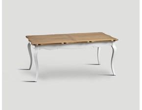 Tavolo rettangolare a quattro gambe Art.100 tavolo rettangolare bicolore  Artigiani veneti scontato