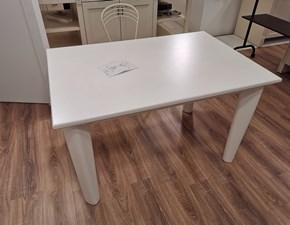 Tavolo rettangolare a quattro gambe Bianco gesso Artigianale scontato