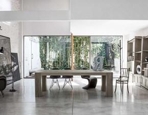 Tavolo rettangolare a quattro gambe Brooklyn, realizzato completamente in rovere materico Devina nais scontato
