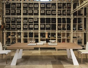 Tavolo rettangolare a quattro gambe Columbus Friulsedie scontato