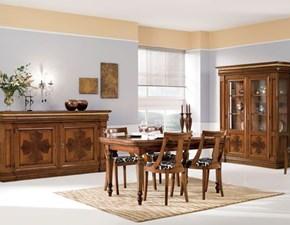 Tavolo rettangolare a quattro gambe Composizione sala pranzo completa Mottes selection scontato
