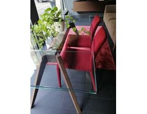 Tavolo rettangolare a quattro gambe Delta Pianca scontato