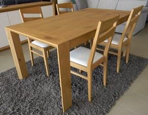 Tavolo rettangolare a quattro gambe Diamante Artigianale scontato
