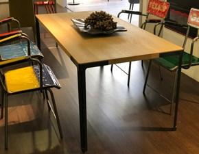 Tavolo rettangolare a quattro gambe Fan Desalto scontato
