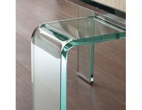 Tavolo rettangolare a quattro gambe Glass La seggiola scontato