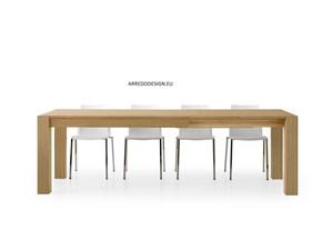 Tavolo rettangolare a quattro gambe in rovere Artigianale scontato