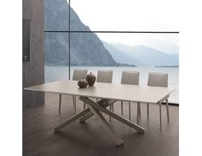 Tavolo rettangolare a quattro gambe Infinity La seggiola scontato