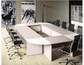 Tavolo rettangolare a quattro gambe Mobile ufficio operativo tekno 11 Zg mobili scontato