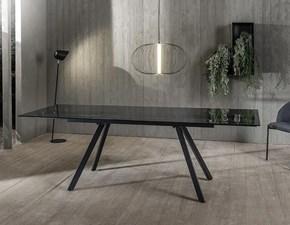 Tavolo rettangolare a quattro gambe Nebbia Artigianale scontato