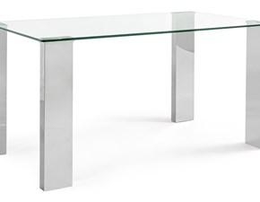 Tavolo rettangolare a quattro gambe New arley Bizzotto scontato