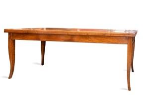 Tavolo rettangolare a quattro gambe Noce vecchio Artigianale scontato