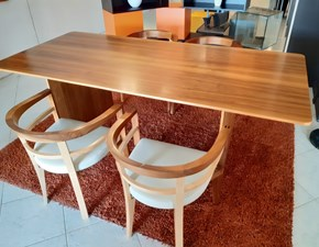 Tavolo rettangolare a quattro gambe Tavolo aero + poltroncine bramante Morelato scontato