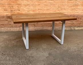 Tavolo rettangolare a quattro gambe Tavolo allungabile shabby chic  in legno  e ferro  Outlet etnico scontato