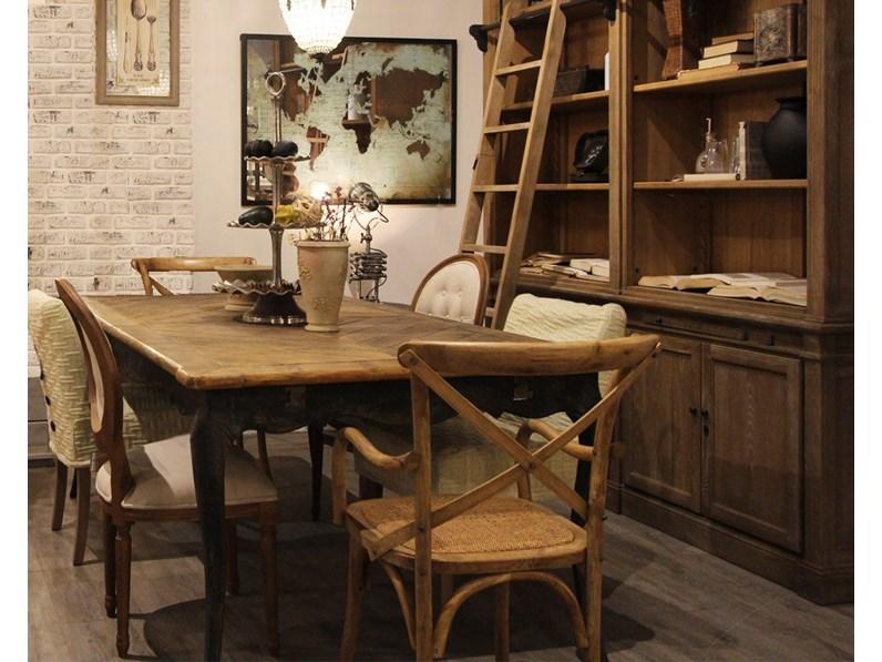 Tavolo rettangolare a quattro gambe Tavolo in legno vecchio ...