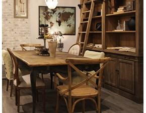 Tavolo rettangolare a quattro gambe Tavolo in legno vecchio riciclato Dialma brown scontato