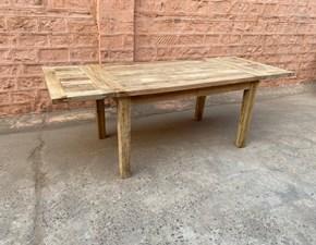 Tavolo rettangolare a quattro gambe Tavolo vintage in legno allungabile in offerta  Outlet etnico scontato