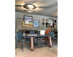 Tavolo rettangolare a quattro gambe Tonin casa butterfly Tonin casa scontato