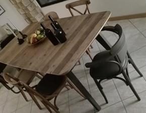 Tavolo rettangolare a quattro gambe Vintage Dialma brown scontato