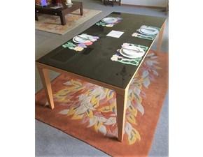 Tavolo rettangolare a quattro gambe Vogue Calligaris scontato