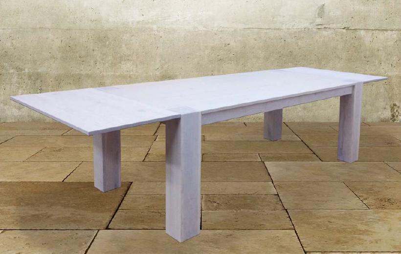 Tavolo rettangolare allungabile 160 cm in legno di rovere for Tavolo rettangolare allungabile